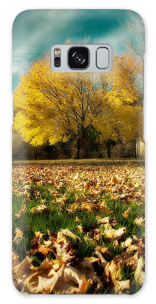 Fallen Leaves Galaxy Case by Cindy Haggerty