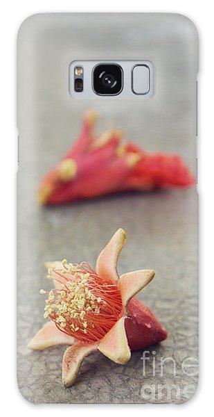 Fallen Pomegranate Blossoms Galaxy Case