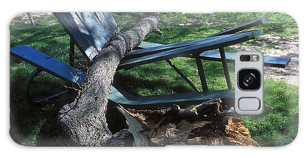 Picnic Table Galaxy Case - Fallen Tree by Jim Reed/science Photo Library