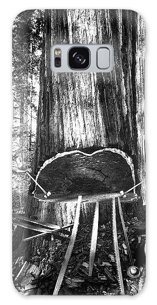 Falling A Giant Sequoia C. 1890 Galaxy Case by Daniel Hagerman