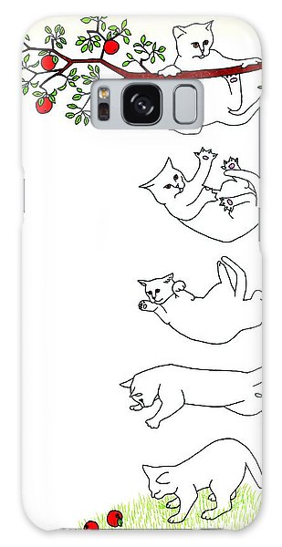 Falling Cat Galaxy Case by Patricia Overmoyer