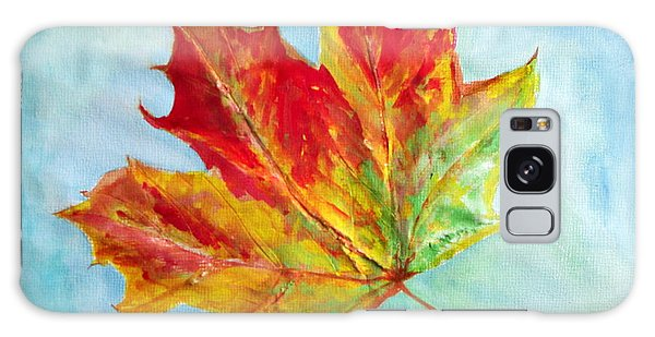 Falling Leaf - Painting Galaxy Case