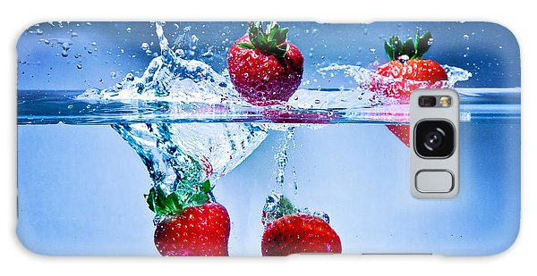 Falling Strawberries Galaxy Case