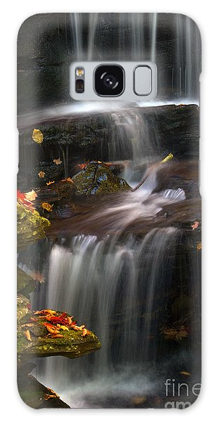 Falls And Fall Leaves Galaxy Case