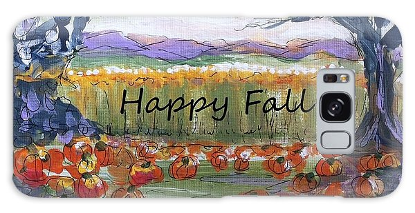 Happy Fall Greeting Card  Galaxy Case