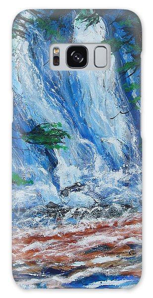 Waterfall In The Forest Galaxy Case by Diane Pape