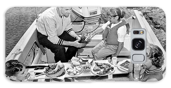 Powerboat Galaxy Case - Family Boating Lunch by Underwood Archives