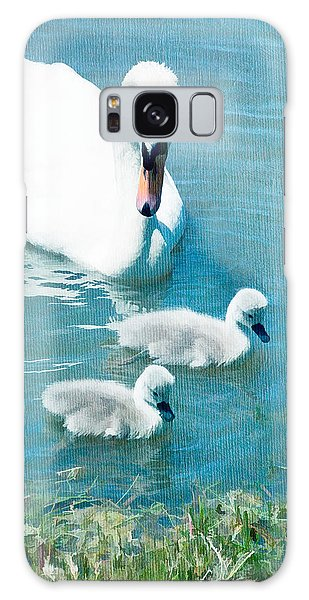 Family Of Swans At The Market Common Galaxy Case