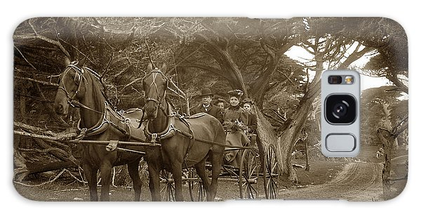 Family Out Carriage Ride On The 17 Mile Drive In Pebble Beach Circa 1895 Galaxy Case
