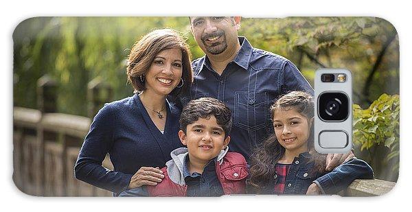 Family Portrait On Bridge - 1 Galaxy Case