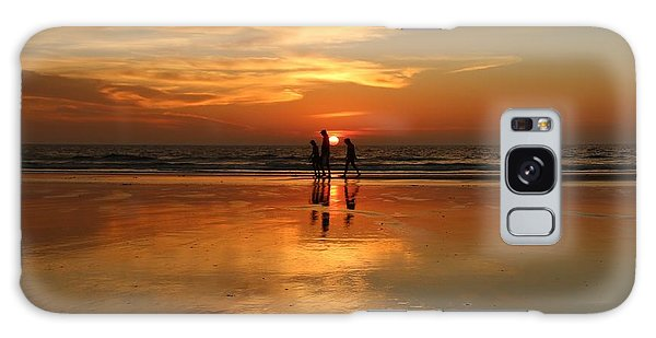 Family Reflections At Sunset -3  Galaxy Case by Christy Pooschke