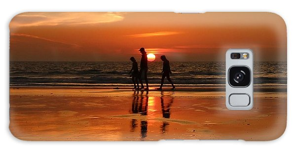 Family Reflections At Sunset - 1 Galaxy Case by Christy Pooschke