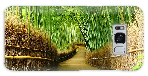 Famous Bamboo Grove At Arashiyama Galaxy Case
