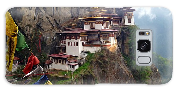 Famous Tigers Nest Monastery Of Bhutan 10 Galaxy Case