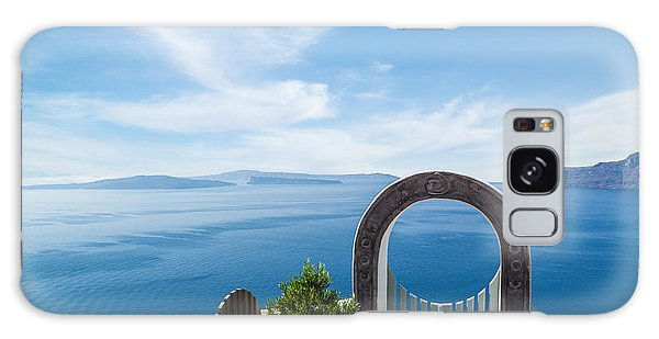 Fanastic View From Santorini Island Galaxy Case