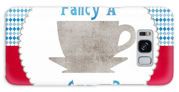 English Galaxy Case - Fancy A Cup by Linda Woods