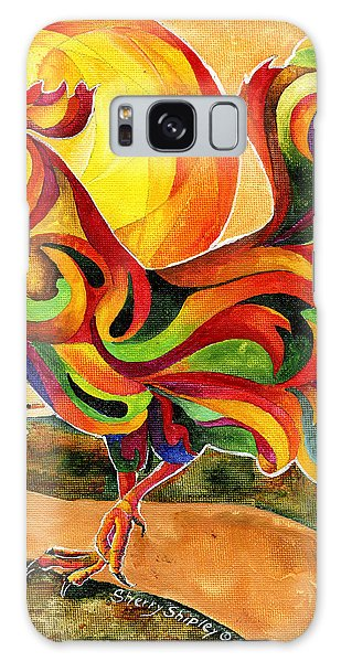 Fancy Feathers Rooster Galaxy Case by Sherry Shipley