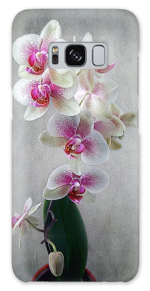 Fancy Orchids Galaxy Case by Louise Kumpf