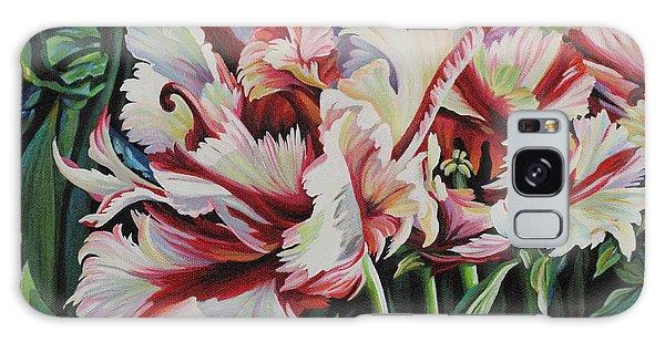 Fancy Parrot Tulips Galaxy Case by Jane Girardot