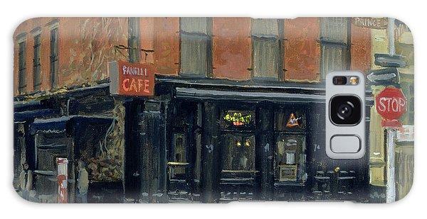 Street Cafe Galaxy Case - Fanellis Bar, New York, 1996 Oil On Canvas by Julian Barrow