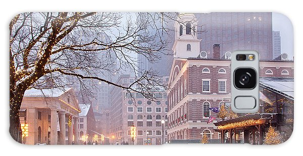 Faneuil Hall In Snow Galaxy Case by Susan Cole Kelly