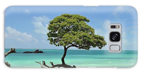 Fanning Tree On Beach Galaxy Case