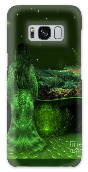 Fantasy Art - Wishing Upon A Star In A Green Night  By Rgiada  Galaxy Case
