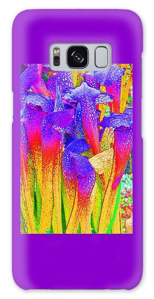 Fantasy Flowers Galaxy Case by Margaret Saheed