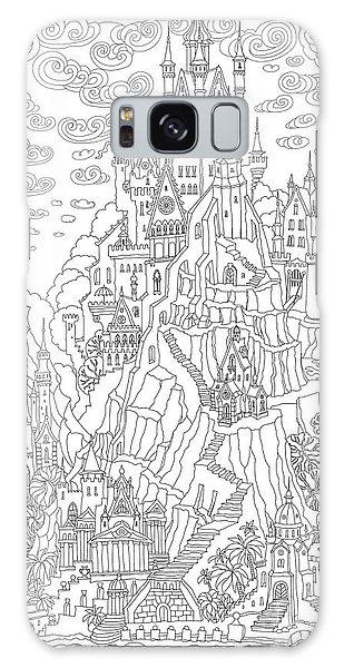Door Galaxy Case - Fantasy Landscape. Fairy Tale Castle On by L. Kramer