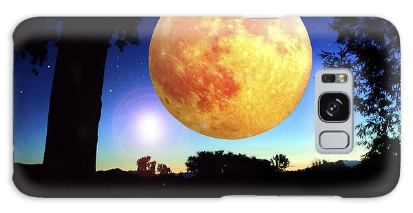 Galaxy Case - Fantasy Moon Landscape Digital Art by A Gurmankin