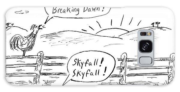 Breaking Dawn Galaxy Case - Farm Animals At Sunrise by David Sipress
