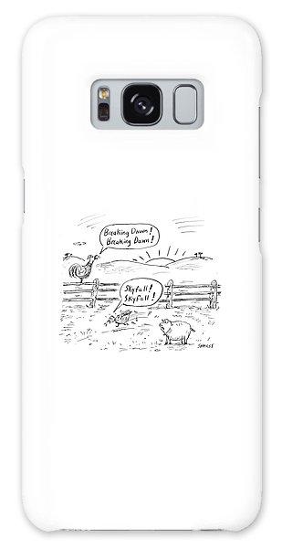 Pasture Galaxy Case - Farm Animals At Sunrise by David Sipress