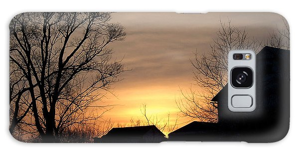 Farm At Dusk Galaxy Case