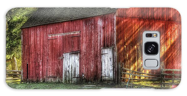 Farm - Barn - The Old Red Barn Galaxy Case by Mike Savad