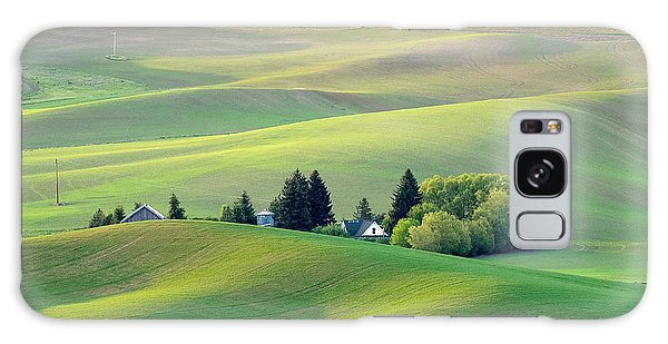 Farm Buildings Nestled In The Palouse Country Galaxy Case