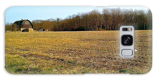 Farm Field With Old Barn Galaxy Case