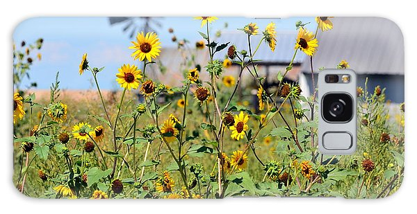 Farm Flowers Galaxy Case by Clarice  Lakota