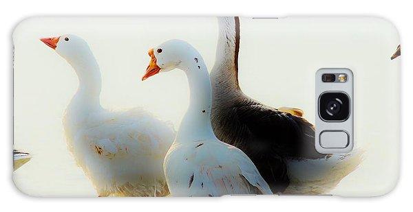 Farm Geese Galaxy Case