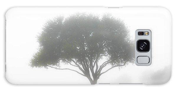 Farm On A Foggy Morning Galaxy Case