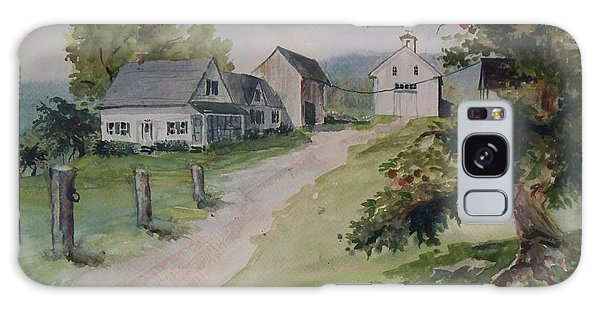 Farm On Orchard Hill Galaxy Case by Joy Nichols