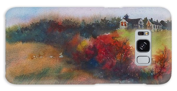 Farm On The Hill At Sunset Galaxy Case by Joy Nichols