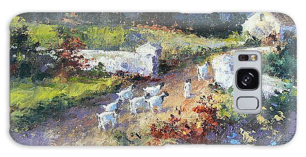 Farm Scene With Goats I Galaxy Case