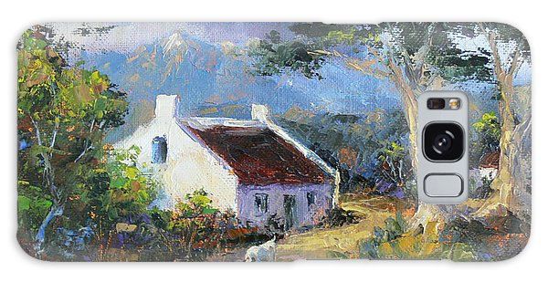 Farm Scene With Goats II Galaxy Case