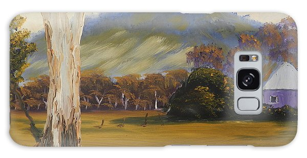 Farm With Large Gum Tree Galaxy Case