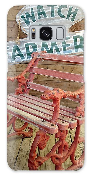 Farmer Bench Galaxy Case by Kerri Mortenson
