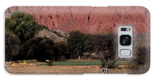 Farmer In Field In Northern Argentina Galaxy Case