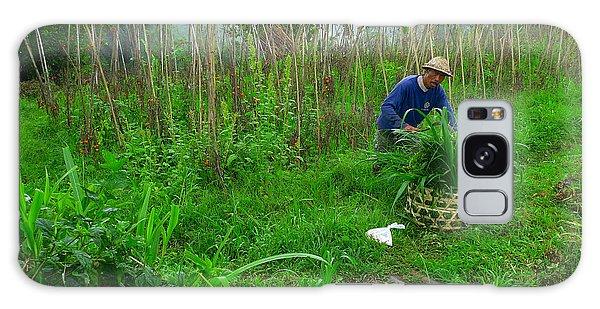 Farmer In Bali Galaxy Case