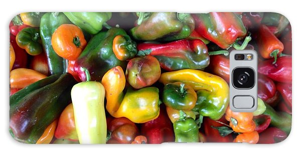 Farmers Market Peppers Galaxy Case