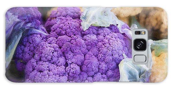 Farmers Market Purple Cauliflower Square Galaxy Case