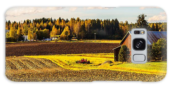 Farmer's Sunny Autumn Day Galaxy Case